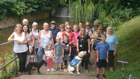 Members of Sidmouth Slimming World took on their walk to raise money for Cancer Research. Picture: H
