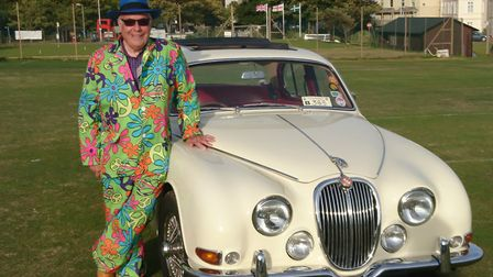 Sidmouth Classic Car Show and organiser Michael Lavers with one of his own cars. Picture: Sidmouth C