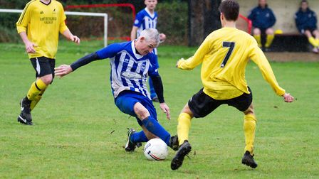 Ottery's 1st team at home to East Budleigh. Ref shsp 39 18TI 1769. Picture: Terry Ife