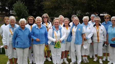 Sidmouth ladies with their friends - and rivals - from Madeira in one of the final meetings of the 2