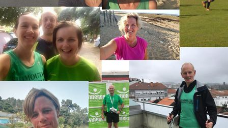 Sidmouth Running Club's Mighty Green 'around the globe'. Picture CONTRIBUTED