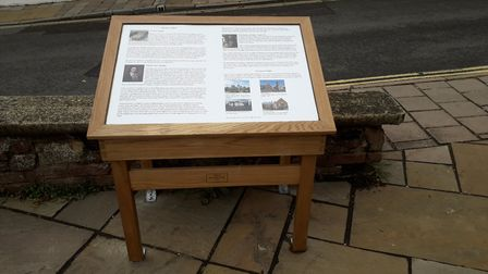 The new interpretation board erected by the council. Picture: Ottery St Mary Town Council
