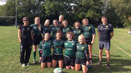 Sidmouth RFC Under-18 girl's team. Picture CONTRIBUTED