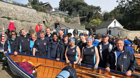 Sidmouth Gig Club members at the Head of River race meeting in Cornwall. Picture CONTRIBUTED