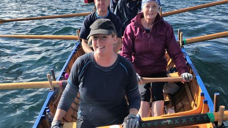 Sidmouth's B crew at the start of the Head of River race meeting in Cornwall. Picture CONTRIBUTED