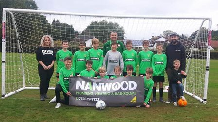 Sidmouth Town Under-12s, who are coached by Bryn Clapp. Back row (left to right) Charlie Gwillam, ow