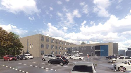 Artist impressions of the new block at Sidmouth College, Picture: Bouygues UK