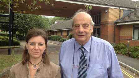 Councillor Claire Wright with Councillor Geoff Pratt, who won the Ottery St Mary Rural by-election.