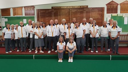 Sidmouth bowlers at the start of the new indoor season. Picture CONTRIBUTED