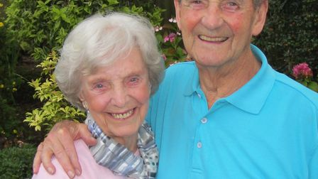 Mary and Les Harlow have celebrated their 75th anniversary. Picture: Nick Irving