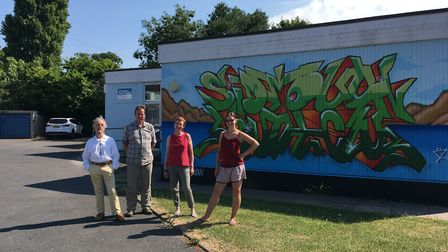 The steering group of the Repair Cafe outside Sidmouth Youth Centre. Picture: Repair Cafe