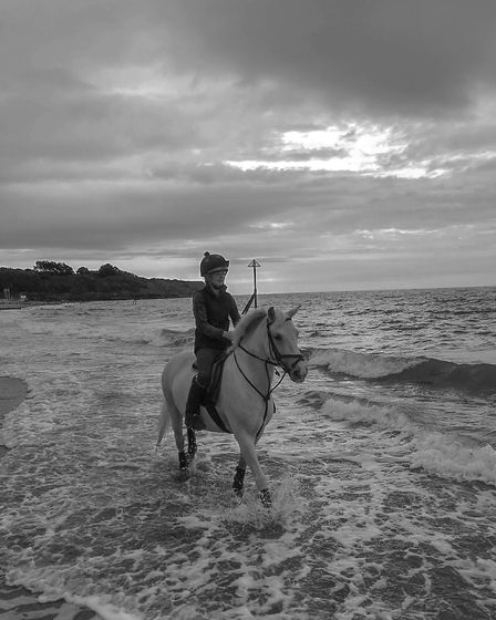 A relaxing Sunday ride on Exmouth Beach. Picture: Hieth George