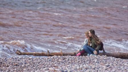 Windy wall along Budleigh beach. Picture: Jason Sedgemore
