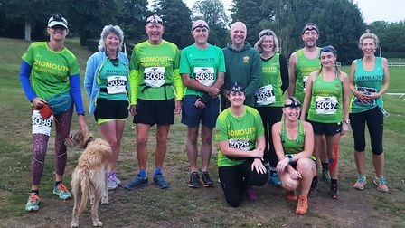 Sidmouth Running Club members at the The Darkness of the Nightjar event. Picture CONTRIBUTED