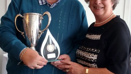 Sidmouth bowls 2018 outdoor section awards. Picture CONTRIBUTED