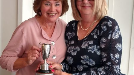 Sidmouth bowls 2018 outdoor section awards. The Umbrella winner. Picture CONTRIBUTED