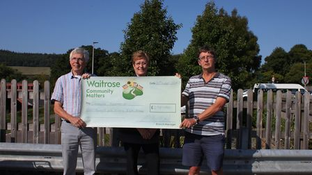 Sidmouth Arboretum's treasurer, Ed Dolphin and chairman Jon Ball happily accepted a cheque from Wait