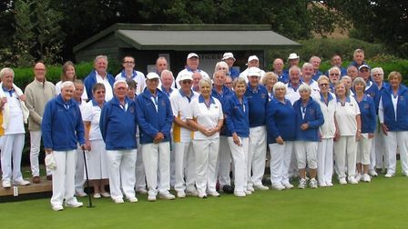 Ottery St Mary bowlers at the final event of the 2018 outdoor season. Picture CONTRIBUTED