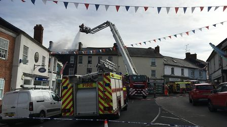 Fire crews at the scene of Ottery blaze. Picture: Clarissa Place