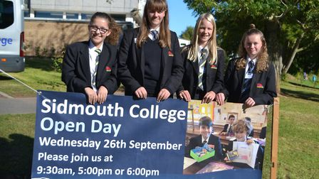 Students at Sidmouth College helped to showcase the school during a record breaking open day and eve
