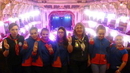 Members of Sidmouth's guides enjoyed a fun weekend in Blackpool, where they slept in the Blackpool T