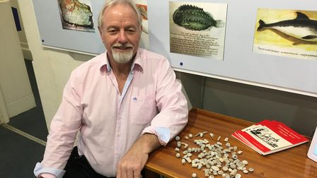 David Powell with the bullets he discovered. Picture: Clarissa Place