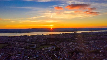 Another lovely Sunset from above over Exmouth. Picture: Hieth George