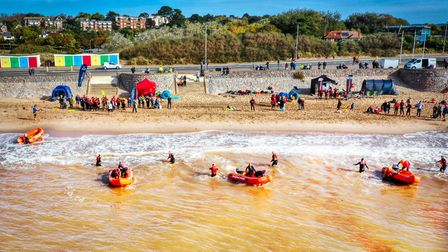 This was a shot of the Exmouth Beach Rescue Club practicing for the National IRB Surf Rescue Champio