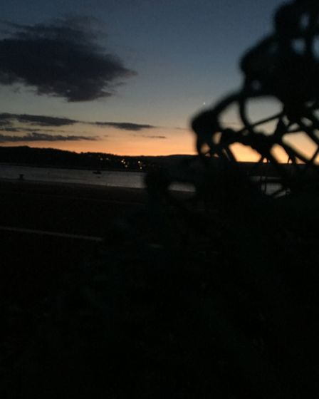 A beautiful sunset at night at Exmouth. Picture: Rowan O'Shaughnessy