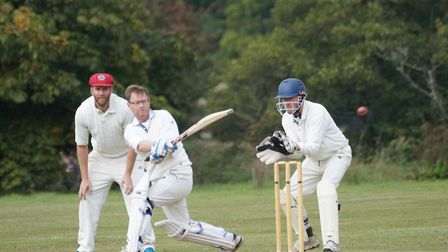 David Jessop batting in the final game of the Titpon CC season. Picture PHIL WRIGHT