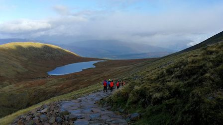 An early morning view of the Highlands, taken from Ben Nevis. Picture: Mark Bishop