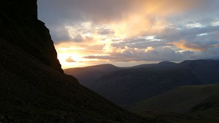 Sunset at Scafell Pike. Picture: Mark Bishop