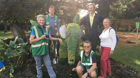 Members of the Sidmouth in Bloom team celebrate another gold at South West in Bloom. Lynette Talbot,