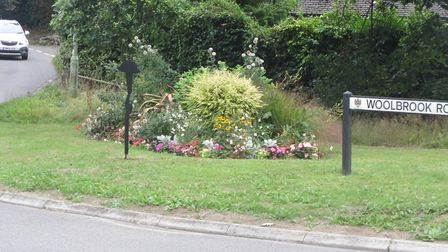 The stolen war memorial. Picture: Sidmouth in Bloom