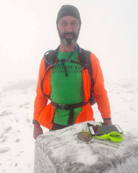 Rocker on the summit of Ben Nevis.Picture CONTRIBUTED