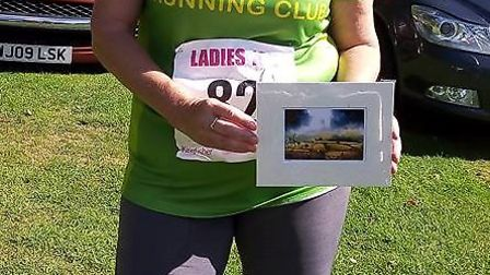 Sidmouth Running Club member Emma Grainger at the Dornafield 10k. Picture CONTRIBUTED