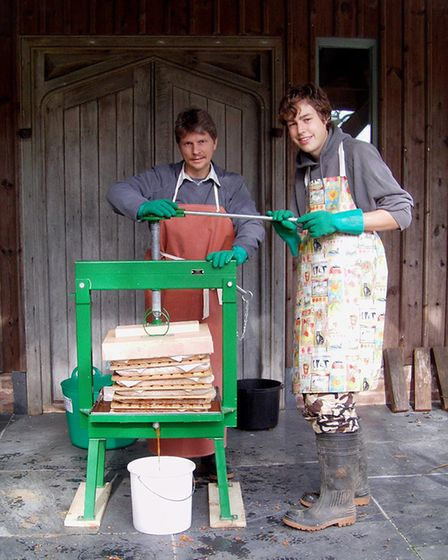Making apple juice at Thorn Park. Picture: Contributed