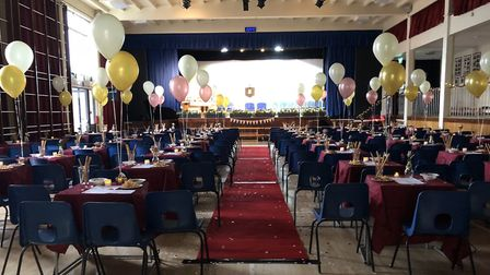 The main hall dressed for the occasion. Picture: The King's School