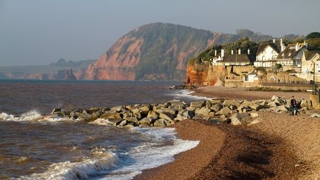 Sunny Sidmouth in October. Ref shs 41 18TI 2342. Picture: Terry Ife