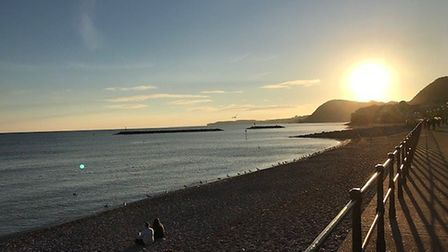 The sunset over Sidmouth. Picture: Andrew Brizell