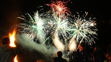 Newton Poppleford bonfire and fireworks night. Ref shs 4048-46-15AW. Picture: Alex Walton