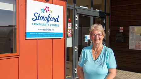 Jan Jones outside Stowford Rise Community Hall. Ref shs 43 18TI 3161. Picture: Terry Ife