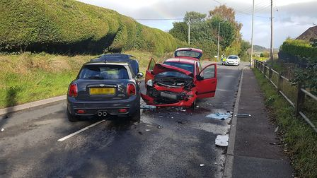 Sidmouth Fire Station were called out to a two car collision near Sidford. Picture: Sidmouth Fire St