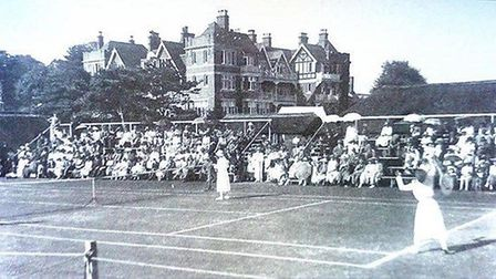 Sidmouth tennis in 1913. Picture CONTRIBUTED