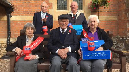 Poppy Appeal volunteers in Sidmouth
