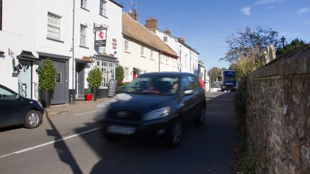 Traffic in Sidbury. Ref shs 43 18TI 3723. Picture: Terry Ife