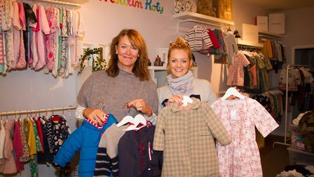 Sarah and Abbie Cook in their new shop The Baby Boutique. Ref sho 44 18TI 4140. Picture: Terry Ife