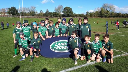 Sidmouth Under-12s at the Land Rover Trophy meeting. Oicture CONTRIBUTED