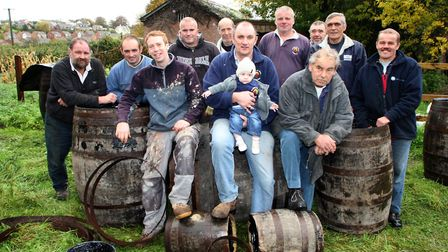 The barrel rollers get ready for this year's festivities. Picture by Alex Walton. Ref sho 5181-44-10