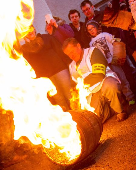 Ottery Tar Barrels 2016. Ref sho 45-16TI 1583. Picture: Terry Ife